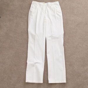Talbot off white stretch pants size 4